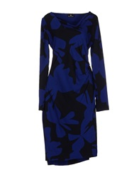 Rena Lange Knee Length Dresses Dark Blue