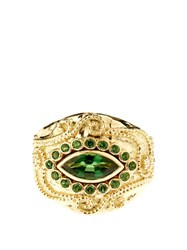 Aur Lie Bidermann Fine Jewellery Diamond Tourmaline And Yellow Gold Ring