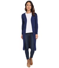 Brigitte Bailey Adelino Thin Ribbed Duster Navy Women's Sweater