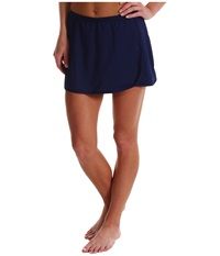Tyr Solid Swim Skort Navy Women's Swimwear