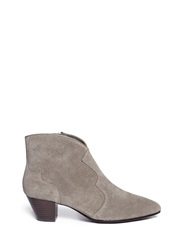 Ash 'Hurrican' Suede Cowboy Ankle Boots Grey
