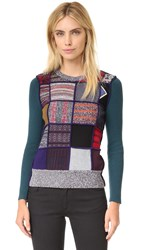 See By Chloe Patchwork Pullover Patchwork Multico