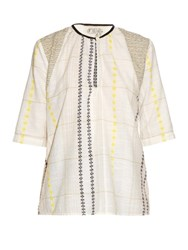 Ace And Jig Hope Cotton Blouse White Multi