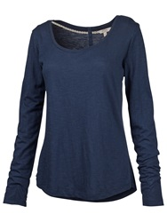 Fat Face Ella Long Sleeve T Shirt Indigo