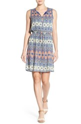 Lucky Brand Women's 'Stained Glass' Print Blouson Dress Multi