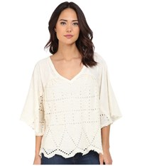 Free People Summer Lovin Pullover Cream Women's Long Sleeve Pullover Beige