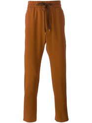 Cmmn Swdn Drawstring Trousers Brown
