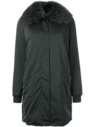 Twin Set Fur Collar Parka Green
