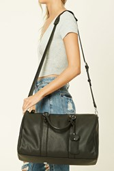 Forever 21 Faux Leather Travel Bag