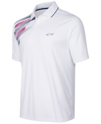 Greg Norman For Tasso Elba Men's Big And Tall Performance Polo Only At Macy's Bright White