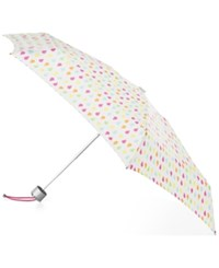 Totes Signature Manual Small Umbrella White Rain
