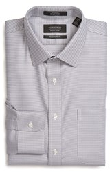Nordstrom Men's Big And Tall Men's Shop Traditional Fit Non Iron Micro Houndstooth Dress Shirt Grey Sconce