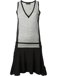 Diesel Black Gold V Neck Vest Top Grey