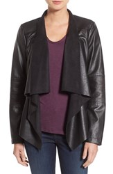 Levi'sr Women's Levi's Drape Front Faux Leather Jacket Black