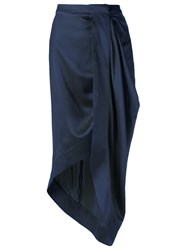 Giuliana Romanno Asymmetric Skirt Blue