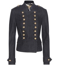 Burberry Tadstone Embellished Denim Jacket Blue