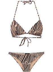 Vivienne Westwood Anglomania Matchstick Print Bikini Nude And Neutrals