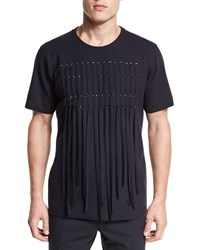 Lanvin Lacing Front Short Sleeve Tee Navy