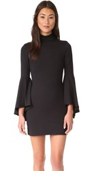 Susana Monaco Izzie Mock Neck Dress Black