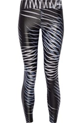 Bodyism I Am Adventurous Printed Stretch Jersey Leggings Black