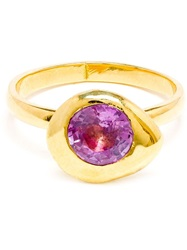 Natasha Collis 18K Gold And Pink Sapphire Nugget Ring Pink And Purple
