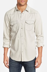 Mavi Jeans 'Andy' Cotton Western Shirt Grey