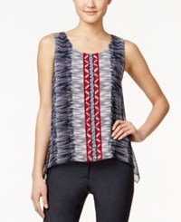 Alfani Petite Sleeveless Printed Swing Top Only At Macy's Brushed Tribal