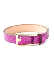 Dsquared2 Embossed Effect Belt Pink And Purple