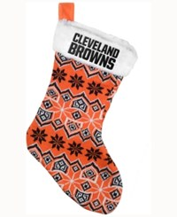 Forever Collectibles Cleveland Browns Ugly Sweater Knit Team Stocking