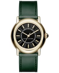 Marc Jacobs Women's Courtney Dark Green Leather Strap Watch 34Mm Mj1490 Emerald