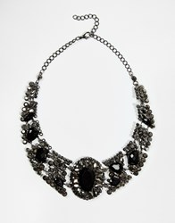 Paper Dolls Antique Inspired Collar Necklace Black