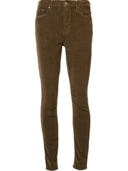 Mother 'Looker' Skinny Jeans Brown