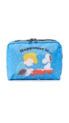 Le Sport Sac Peanuts X Lesportsac Extra Large Rectangular Cosmetic Case Sing Along