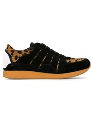 Dolce And Gabbana Leopard Print Sneakers Black