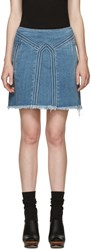Chloe Blue Denim Miniskirt