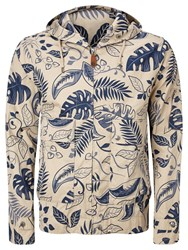 Pretty Green Printed Wren Jacket Blue Cream