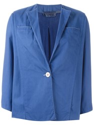 Gianfranco Ferre Vintage Single Button Jacket Blue