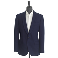 J.Crew Ludlow Shawl Collar Dinner Jacket In Fiore Cotton French Blue