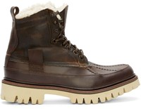 Rag And Bone Brown Leather And Shearling Spencer Boots