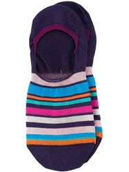 Paul Smith Striped Socks Pink And Purple