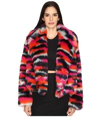 Mcq By Alexander Mcqueen Cropped Fur Jacket Multi
