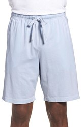 Men's Daniel Buchler Pigment Dyed Cotton Lounge Shorts Sky Blue