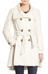 Women's Steve Madden Textured Double Breasted Skirted Coat