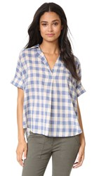 Madewell Buffalo Check Courier Blouse Rainy Day