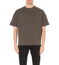 Allsaints Extram Cotton Jersey T Shirt Iron Brown