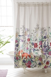 Plum And Bow Forest Critters Shower Curtain Multi