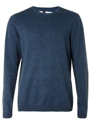 Topman Blue Twist Crew Neck Jumper