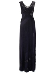 Phase Eight Melody Fringed Dress Black Navy