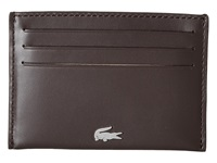 Lacoste Fg Credit Card Holder Dark Brown Credit Card Wallet