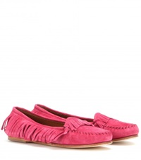 Tomas Maier Suede Moccasins Pink